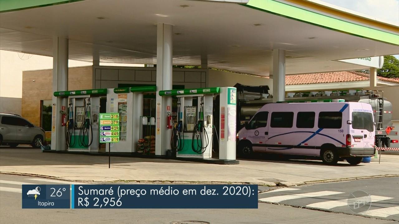 Diferença de preço da gasolina entre cidades da região chega a quase 10 centavos