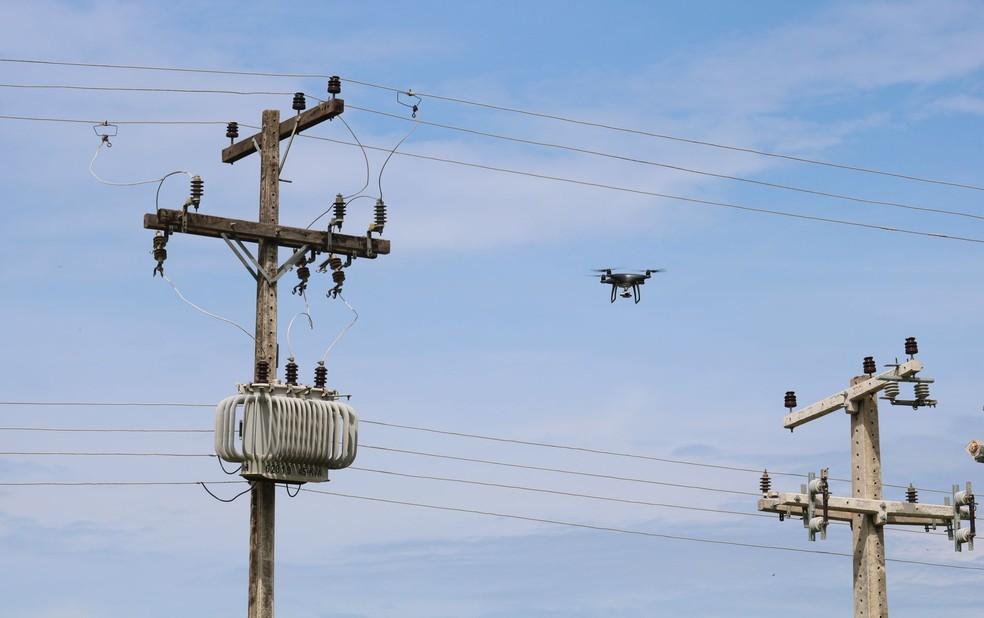 Energisa adota uso de drones para inspeção visual da rede elétrica em Rondônia — Foto: Divulgação