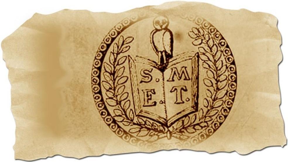 Emblema dos Illuminati da Baviera — Foto: BBC