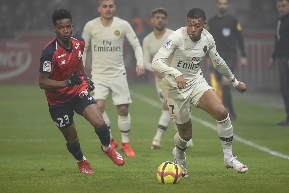 Thiago Mendes foi um dos destaques do Lille na temporada — Foto: AFP