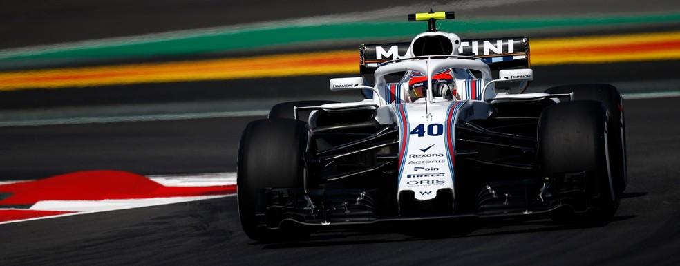 Kubica pilota Williams no primeiro treino em Barcelona (Foto: Divulgação)