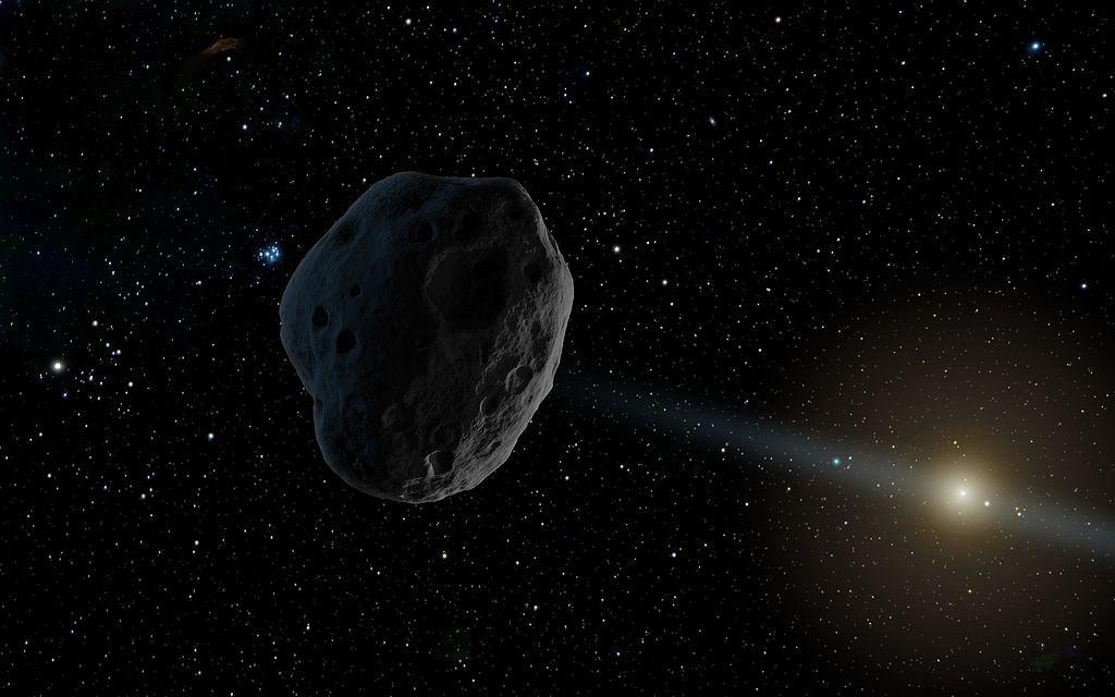 Representação artística de asteroide (Foto: NASA/JPL-Caltech/Wikimedia Commons)
