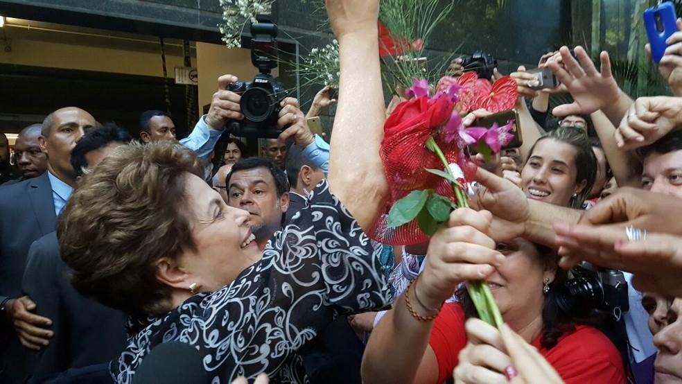 Ex-presidente Dilma Rousseff (PT) transfere domicílio eleitoral de Porto Alegre para Belo Horizonte (Foto: Raquel Freitas/G1)