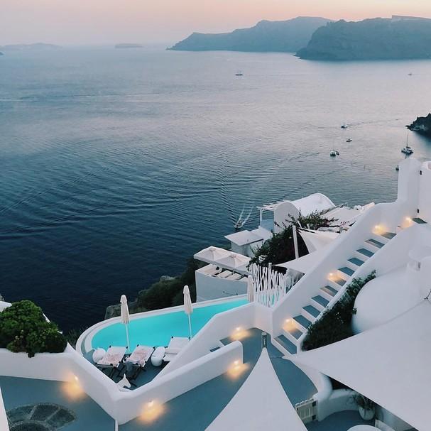 Hotel na Grécia  (Foto: reproduçao)