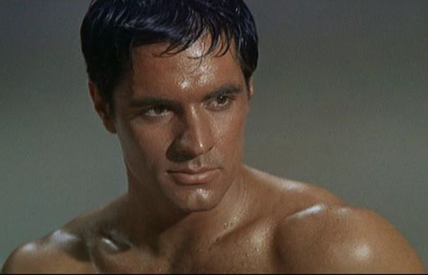 John Gavin como Júlio César em Spartacus (1960) (Foto: Reprodução)