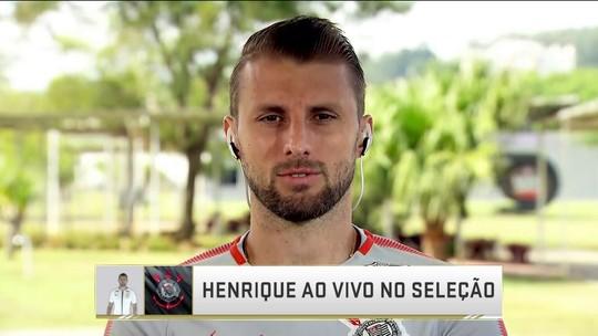 """Henrique diz que desgaste físico tem atrapalhado Corinthians e projeta partida contra Vitória: """"Adversário difícil"""""""