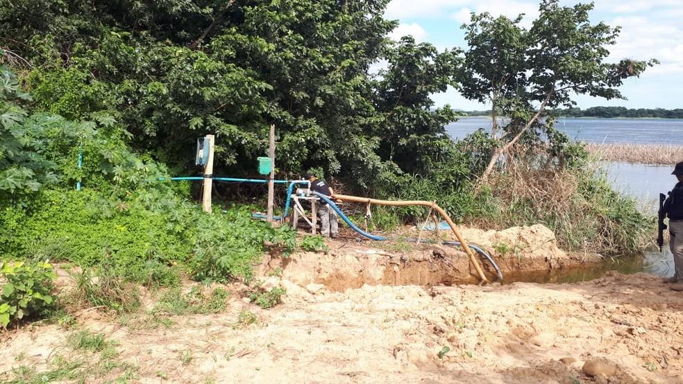Fazenda em Sobradinho onde três foram presos após ligação clandestina de energia ser encontrada na Bahia — Foto: Divulgação/Coelba