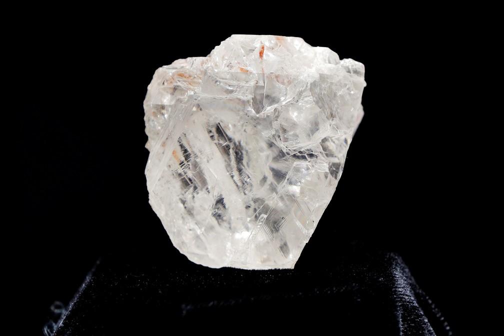 Foto de arquivo do maior diamante do mundo em estado bruto, vendido pela Lucara (Foto: Reuters/Lucas Jackson)