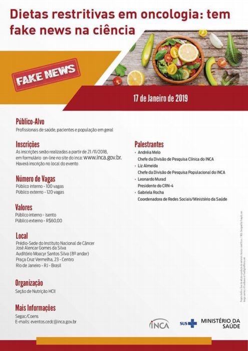 Cartaz do evento do Inca