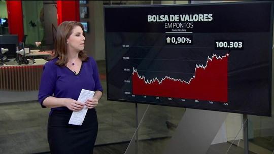 Bolsa de SP fecha acima dos 100 mil pontos pela primeira vez na história