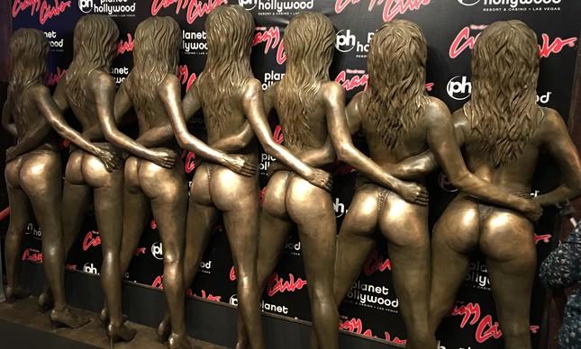 Propaganda dos shows de strip em Vegas