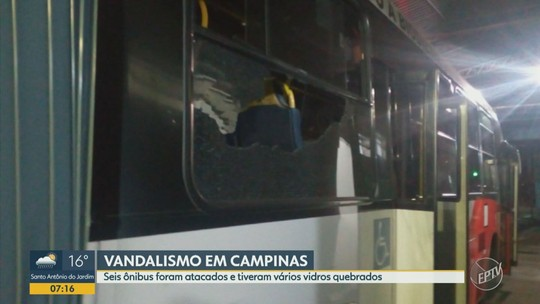Ônibus são apedrejados na Avenida John Boyd Dunlop em Campinas