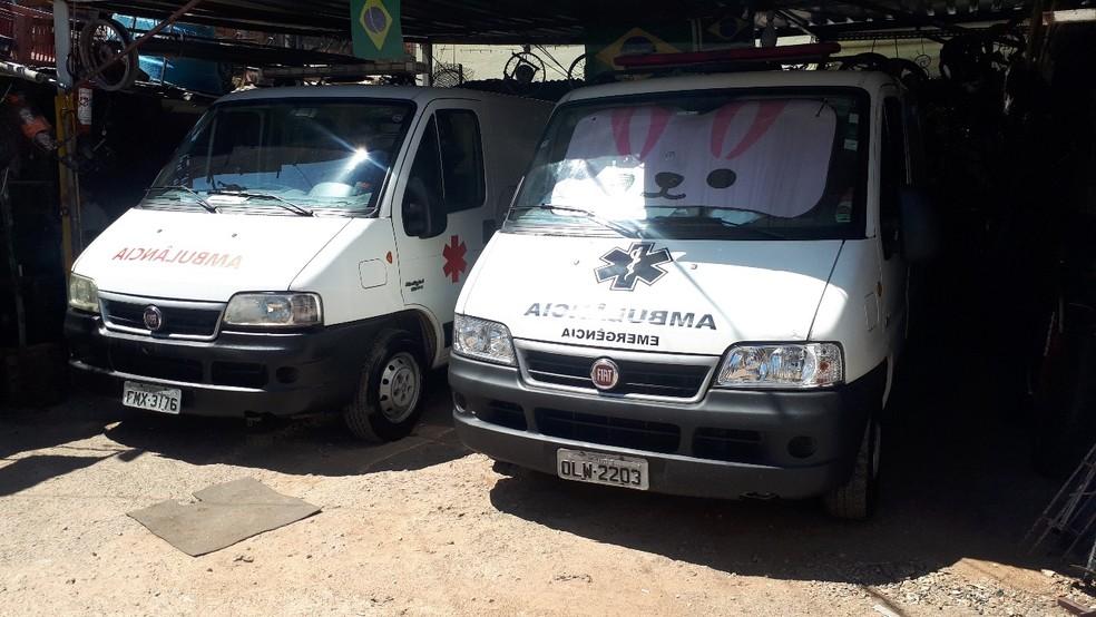 Ambulâncias contratadas para atender Paraisópolis — Foto: Arquivo pessoal