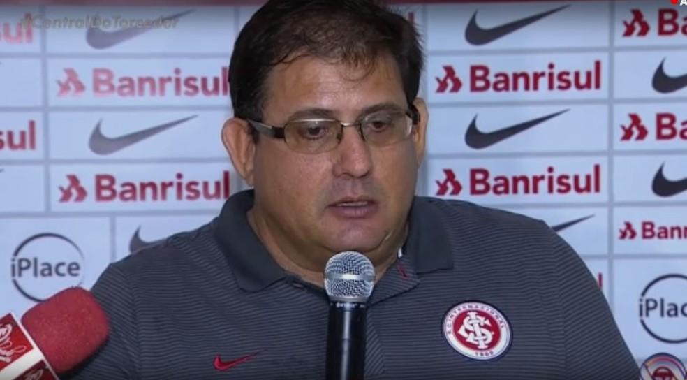 Guto Ferreira não conseguiu manter a sequência positiva do Inter  (Foto: Reprodução / RBS TV)