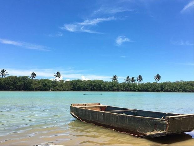 Praia de Barra Seca, em Linhares, no Espírito Santo (Foto: Reprodução/Instagram)