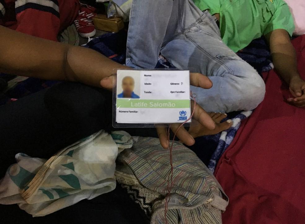 Venezuelana de 35 anos vive em abrigo enquanto o companheiro dorme na rua: 'Todos os dias caminho 1h por dia para vê-lo' (Foto: Emily Costa/G1 RR)