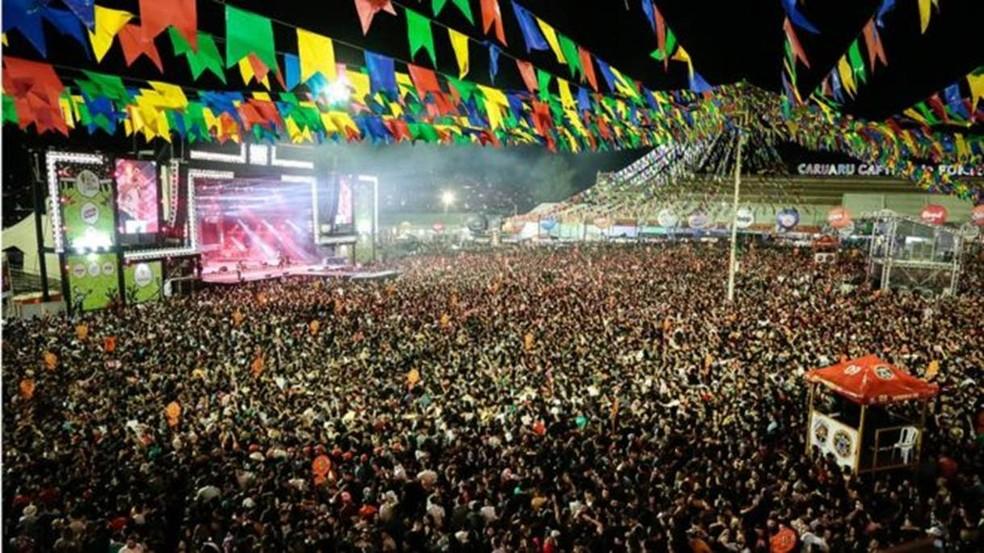 Na festa de São João do ano passado, Caruaru recebeu 2 milhões de turistas, segundo a prefeitura — Foto: Prefeitura de Caruaru/Divulgação