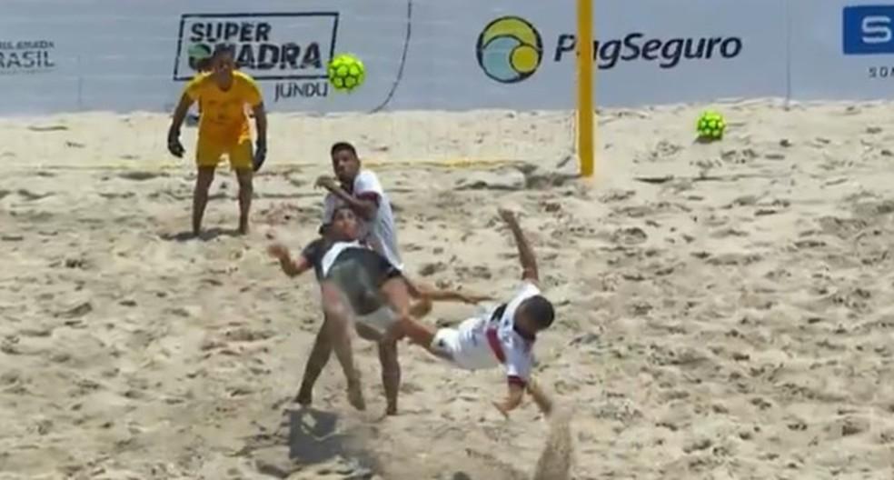 Flamengo x Vasco futebol de areia — Foto: Reprodução