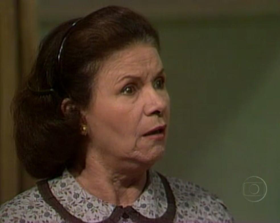 Eloísa Mafalda foi Gioconda Pontes na novela Pedra sobre Pedra, de 1992. (Foto: Reprodução/ TV Globo)