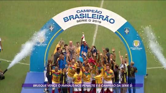 Brusque vence o Manaus nos penaltis e é campeão da série D