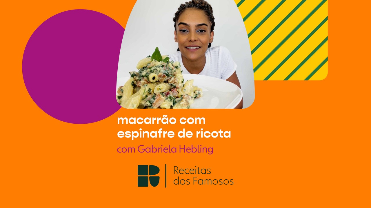 Gabriela Hebling ensina a fazer Macarrão com Espinafre de Ricota