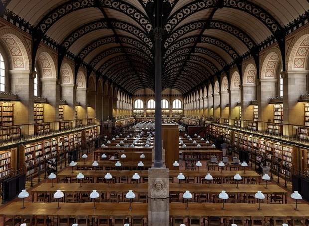 Biblioteca Sainte-Geneviève, em Paris, França (Foto: Massimo Listri/ Taschen/ Reprodução)