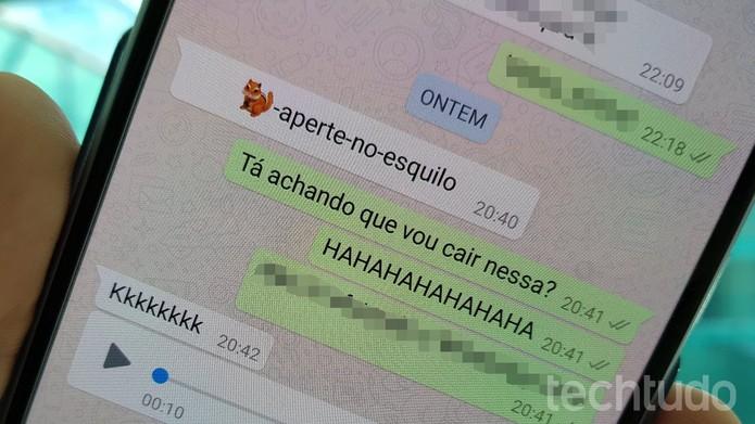WhatsApp: falha pode travar aplicativo e celular com apenas uma mensagem (Foto: Bruno De Blasi/TechTudo)