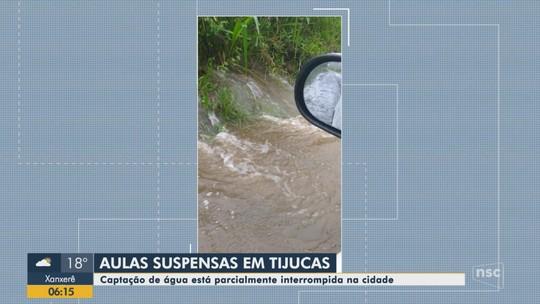 Unidades de saúde e escolas ficam alagadas após chuva em SC; aulas e atendimentos são suspensos