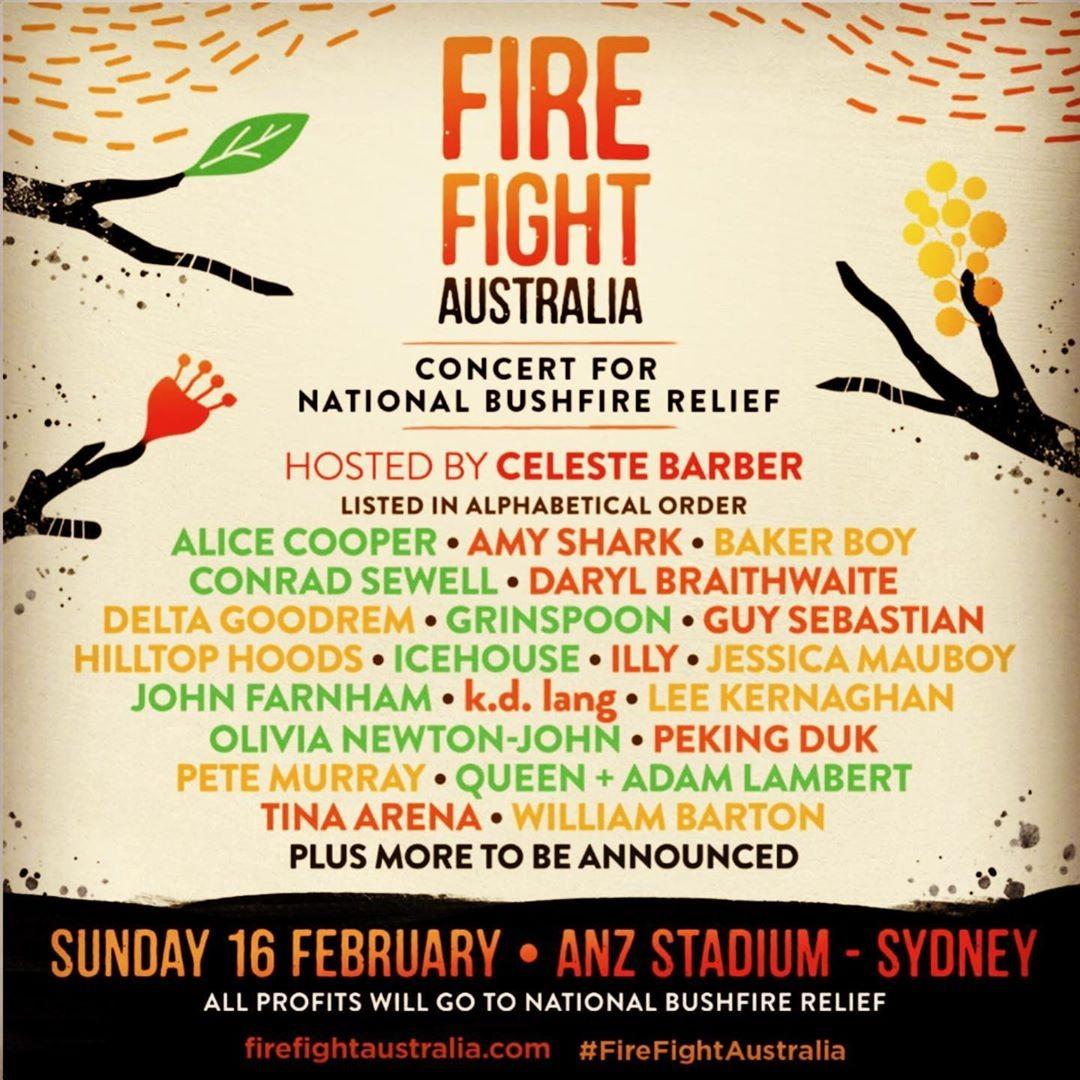 Festival Fire Fight Australia terá renda revertida para combater incêndios na Austrália (Foto: Reprodução/Instagram)