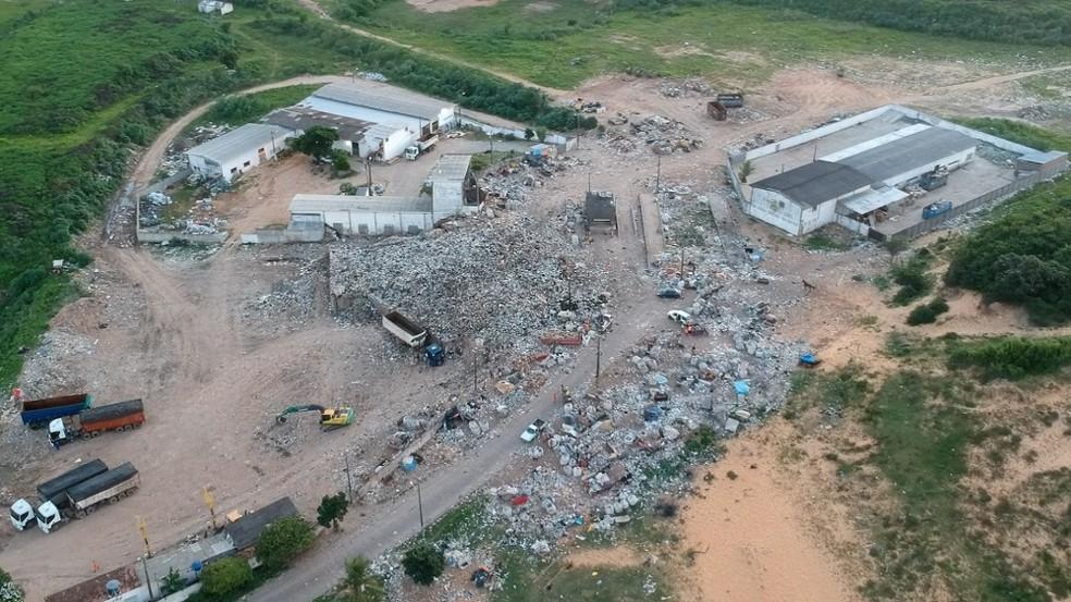 Estação de transbordo de resíduos sólidos de Cidade Nova — Foto: Rafael Fernandes/Inter TV Cabugi
