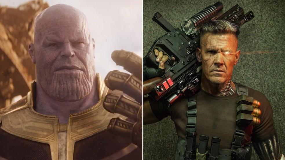 Josh Brolin é Thanos em 'Vingadores: Guerra Infinita' e Cable em 'Deadpool 2' (Foto: Divulgação)