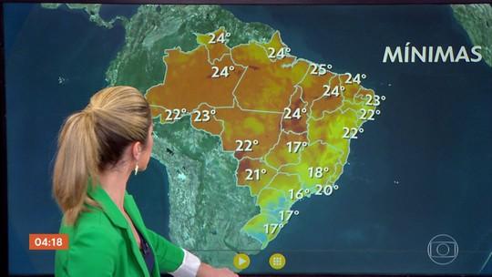 Meteorologia prevê chuva em boa parte do país nesta sexta (21)