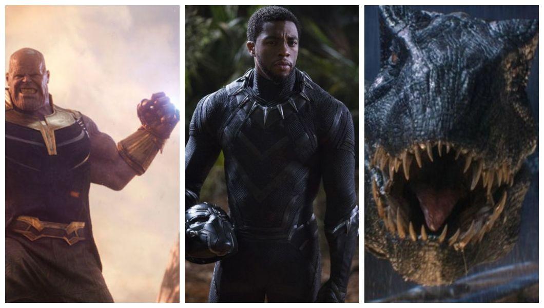 O pódio das bilheterias internacionais de 2018 tem Vingadores: Guerra Infinita, Pantera Negra e Jurrasic World: Reino Ameaçado (Foto: Divulgação)
