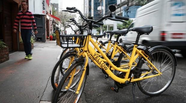 Até agora, Yellow é a única a ter licença para bicicletas dockless na capital (Foto: Reprodução/Estadão Conteúdo)