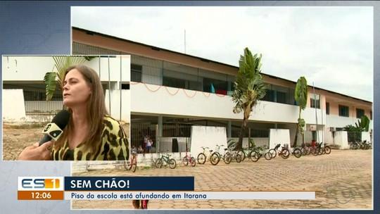 Buraco se abre embaixo de sala de aula de escola e pais relatam medo em Itarana, ES