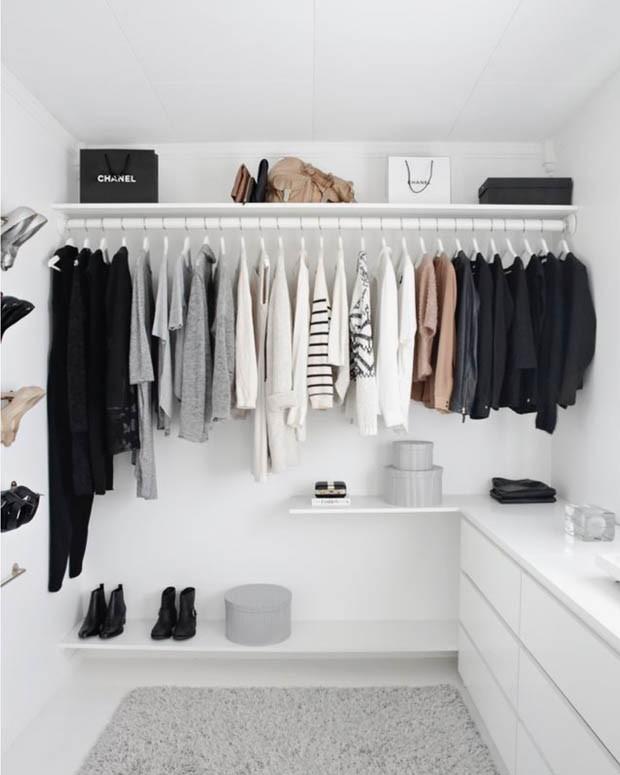 7 ideias para fazer seu guarda roupa aberto (Foto: Reprodução/Divulgação)