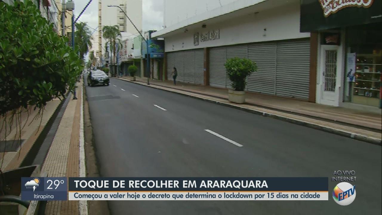 Veja como está a cidade de Araraquara no 1º dia de medidas mais restritivas
