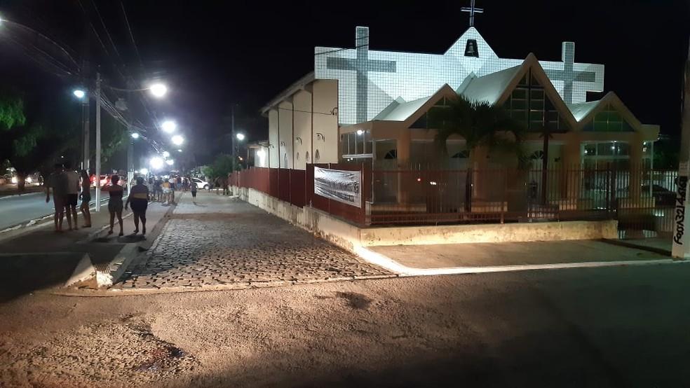 PM da reserva foi assassinado a tiros na Zona Norte de Natal — Foto: Sérgio Henrique Santos/Inter TV Cabugi