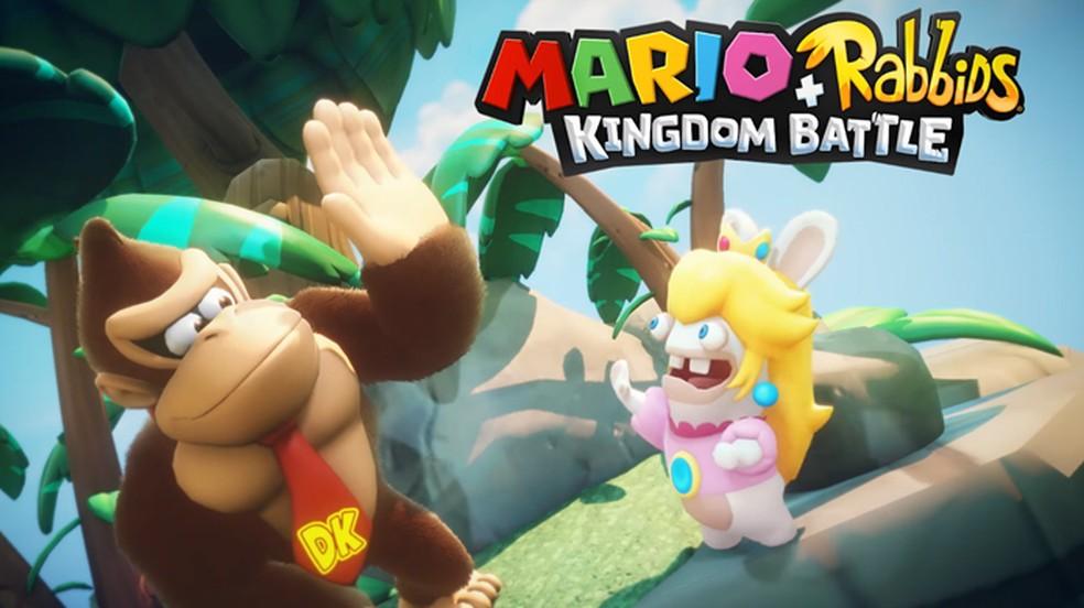 Donkey Kong entrará na batalha em Mario + Rabbids Kingdom Battle do Nintendo Switch (Foto: Reprodução/YouTube)