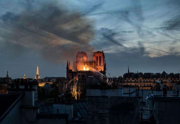 Catedral de Notre Dame é consumida por incêndio (Foto: Veronique de Viguerie/Getty Images)