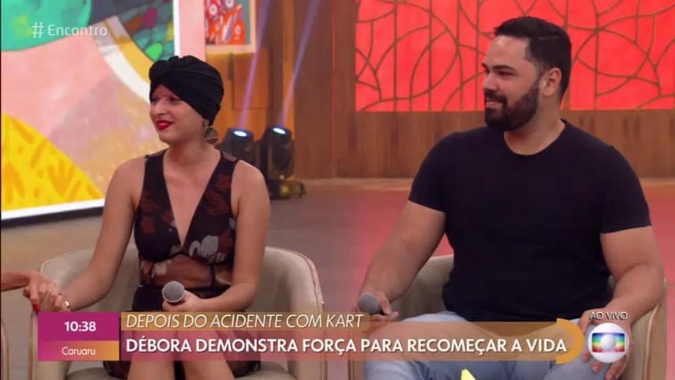 Eduardo foi quem socorreu Débora após acidente: 'Tirei o cabelo que estava preso no motor , coloquei numa sacola e fomos para o Hospital da Restauração' — Foto: TV Globo