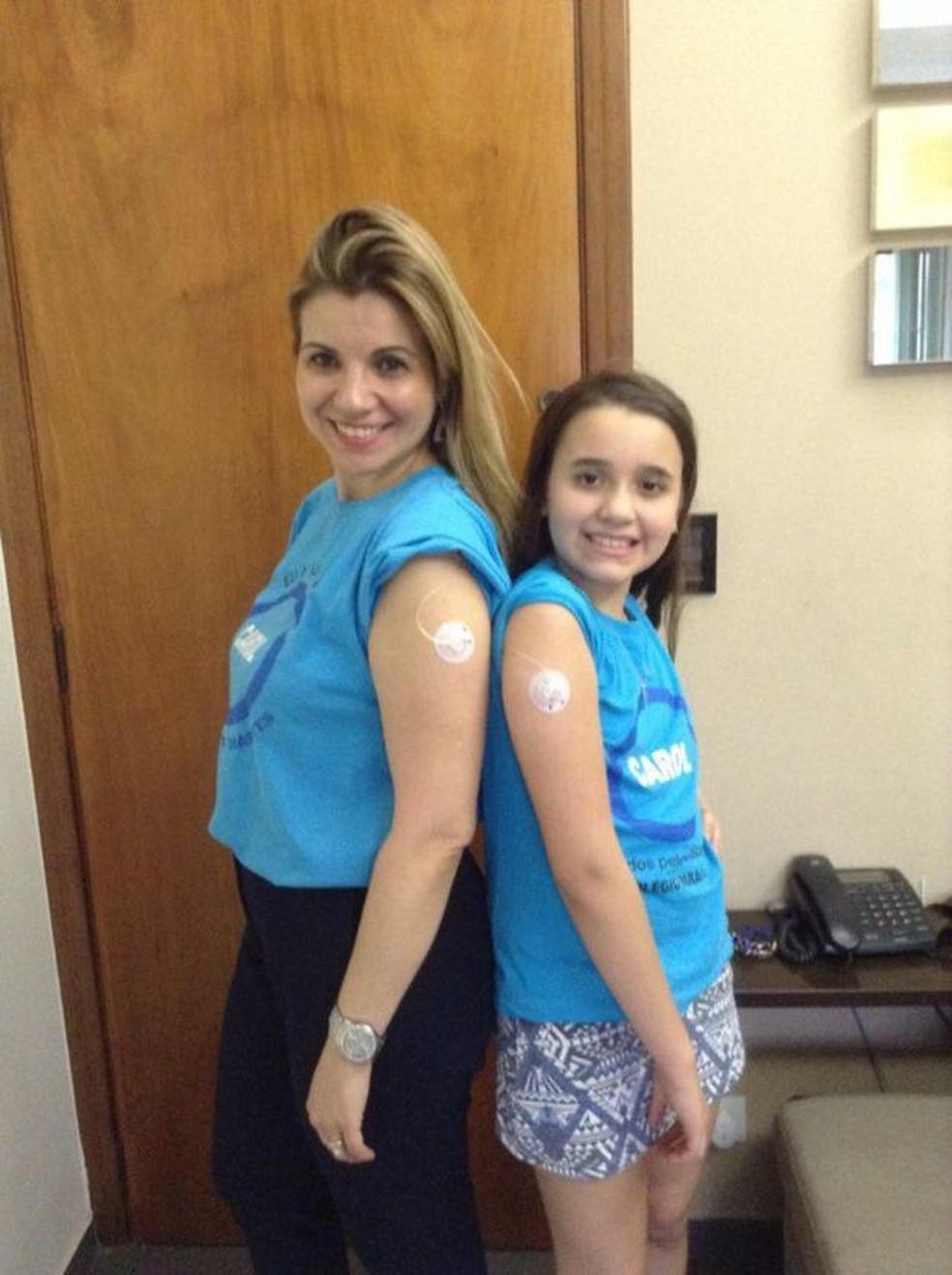 """""""Ela estava sempre cansada"""", diz Ana Paula sobre a filha, Caroline, antes do diagnóstico de diabetes — Foto: Arquivo pessoal"""
