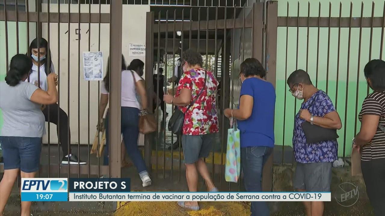 Vacinação em massa contra Covid-19 em Serrana termina com 98% do público-alvo imunizado