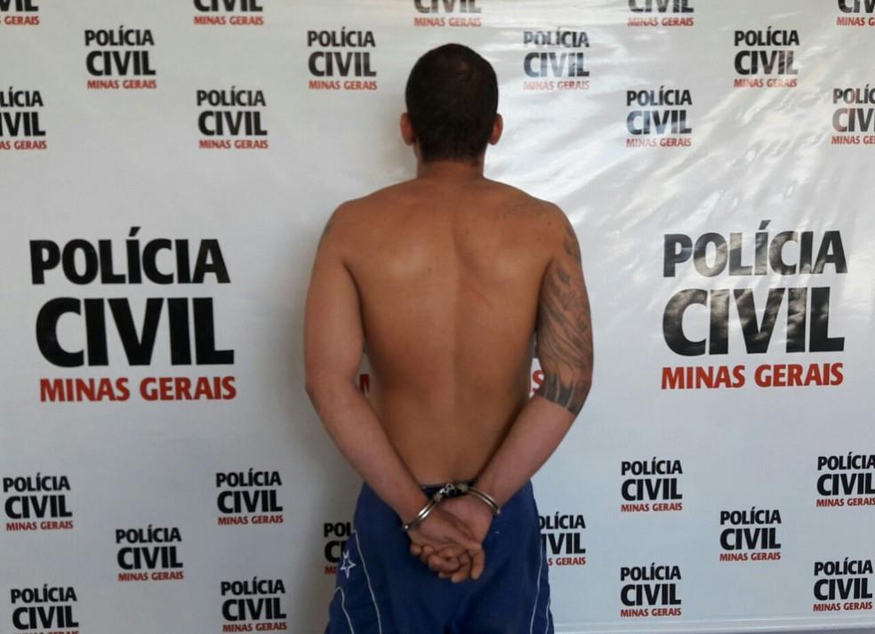 Autor foi preso por mandado de prisão preventiva (Foto: Polícia Civil/Divulgação)