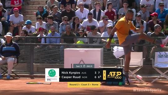 Desclassificado do Masters 1000, Nick Kyrgios leva prejuízo e multa de 20 mil euros
