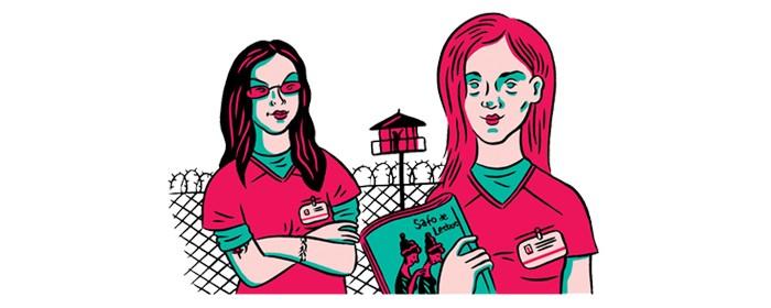 Lésbicas (Foto: Lésbicas (Ilustração: Fido Nesti))