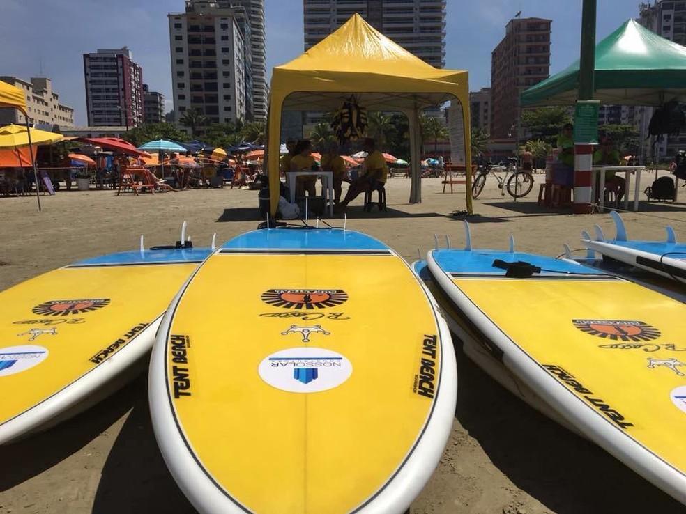d0bca4448 ... Pranchas de escolinha de stand-up paddle foram furtadas em Praia  Grande