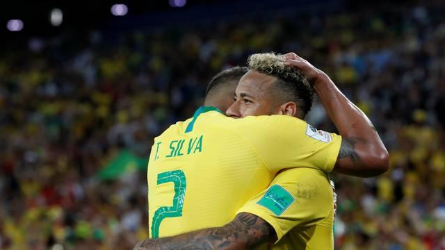 Brasil Servia Neymar Thiago Silva