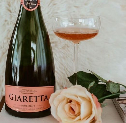 O espumante Giaretta Rosé Brut