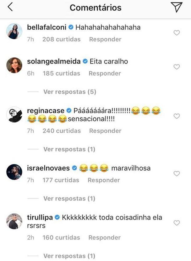 Post de Ivete rende comentários de famosos (Foto: Reprodução)